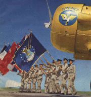 Spence AFB Color Guard and AT-6